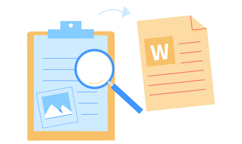 OCR and Post-OCR processing step for content management